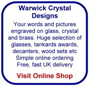 huge selection of glass and crystal for engraving